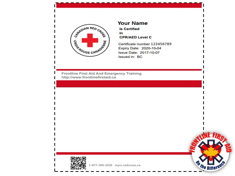 How to renew cpr and first aid certification image for First aid certificate template free