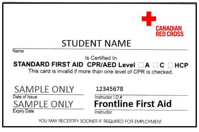 Kelowna SFA Certificate